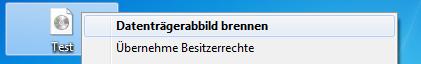 Windows 7 - Image Dateien (.iso) direkt brennen