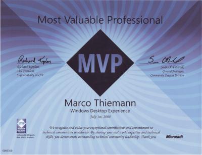 Microsoft MVP Programm