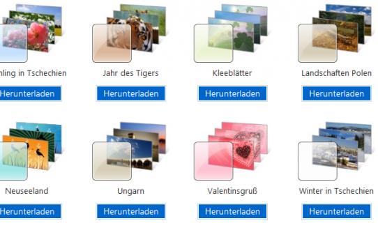 Windows 7 - Kostenlos neue Design's installieren