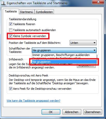 Windows 7 Taskleiste