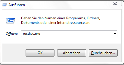 Windows 7 - Recovery CD erstellen