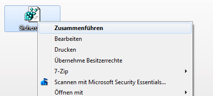 Windows 7 - Registrybackup wieder einlesen
