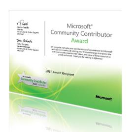 Microsoft belohnt Community Helfer
